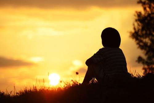 boy-sunset