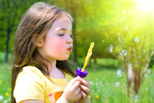 blonde-little-girl-cute-playing-happy-lovely-beautiful-bubble-spring-nature-grass-trees